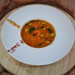 Supa de linte cu masline scaled - Bucate pe Roate